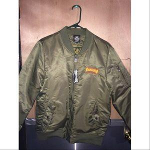 d4c45a213 Unisex thrasher bomber jacket !!!! NWT